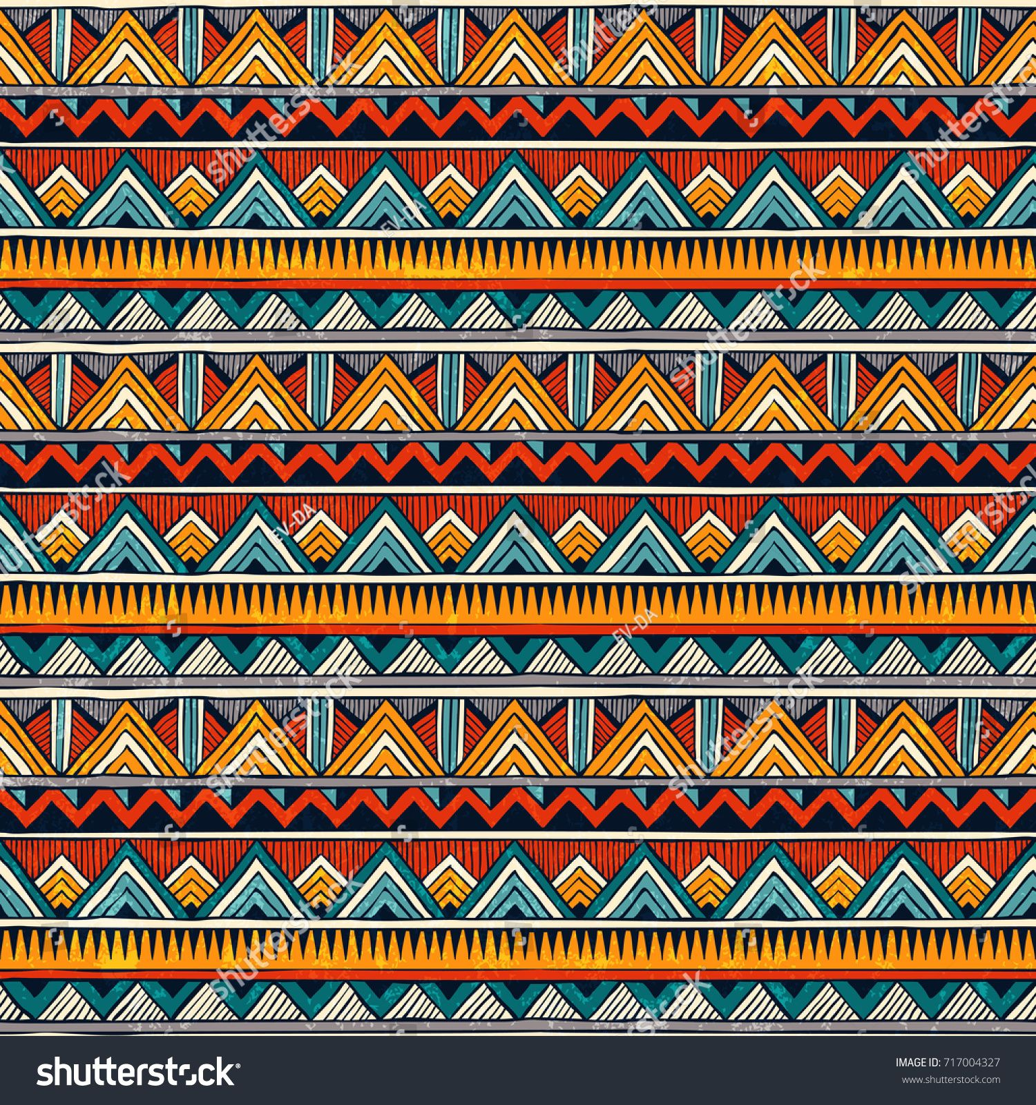Tribal seamless pattern. African print. Colorful abstract