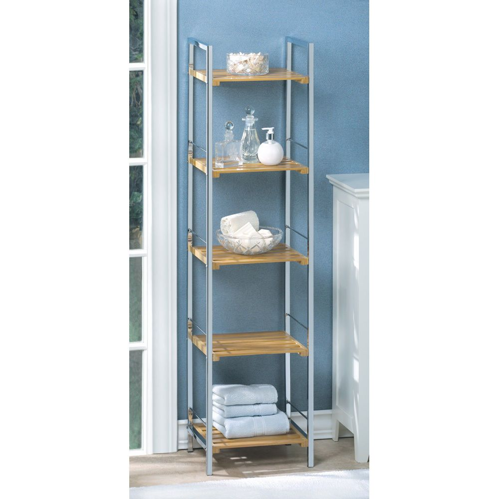 Wooden Shelves Corner Unit For Bathroom Storage For Towels And Other ...