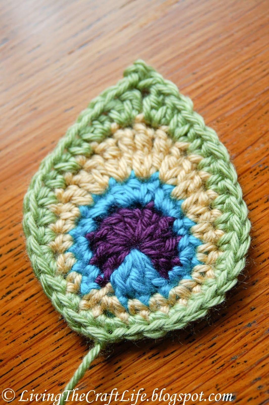 Free crochet pattern - Appliqué/ Motif - Peacock Feather | Appliques ...