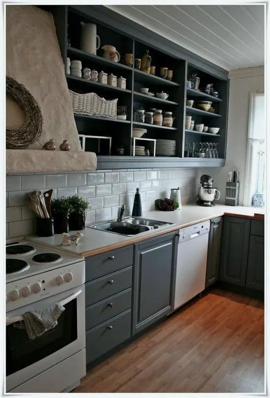 43 Best Kitchen Cabinet Ideas Modern Farmhouse And Diy Kitchenideas Kitchendesign Smallkitchen Home Kitchens Open Kitchen Shelves Open Kitchen Cabinets