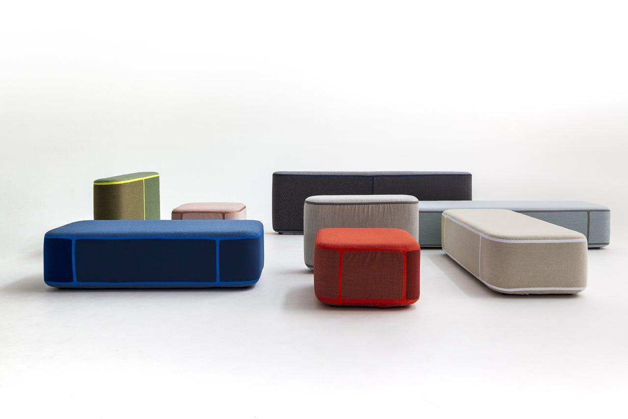 Benjamin Hubert S Tape Modular Seating Adds An Element Of Fashion