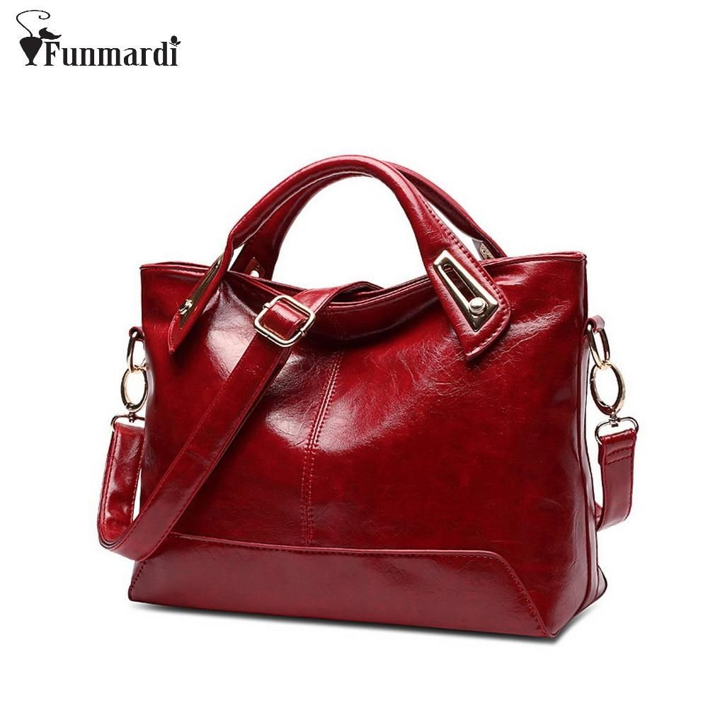 Photo of Women Oil Wax Leather Designer Handbags High Quality Shoulder Bags Ladies Handbags Fashion brand PU leather women bags WLHB1398