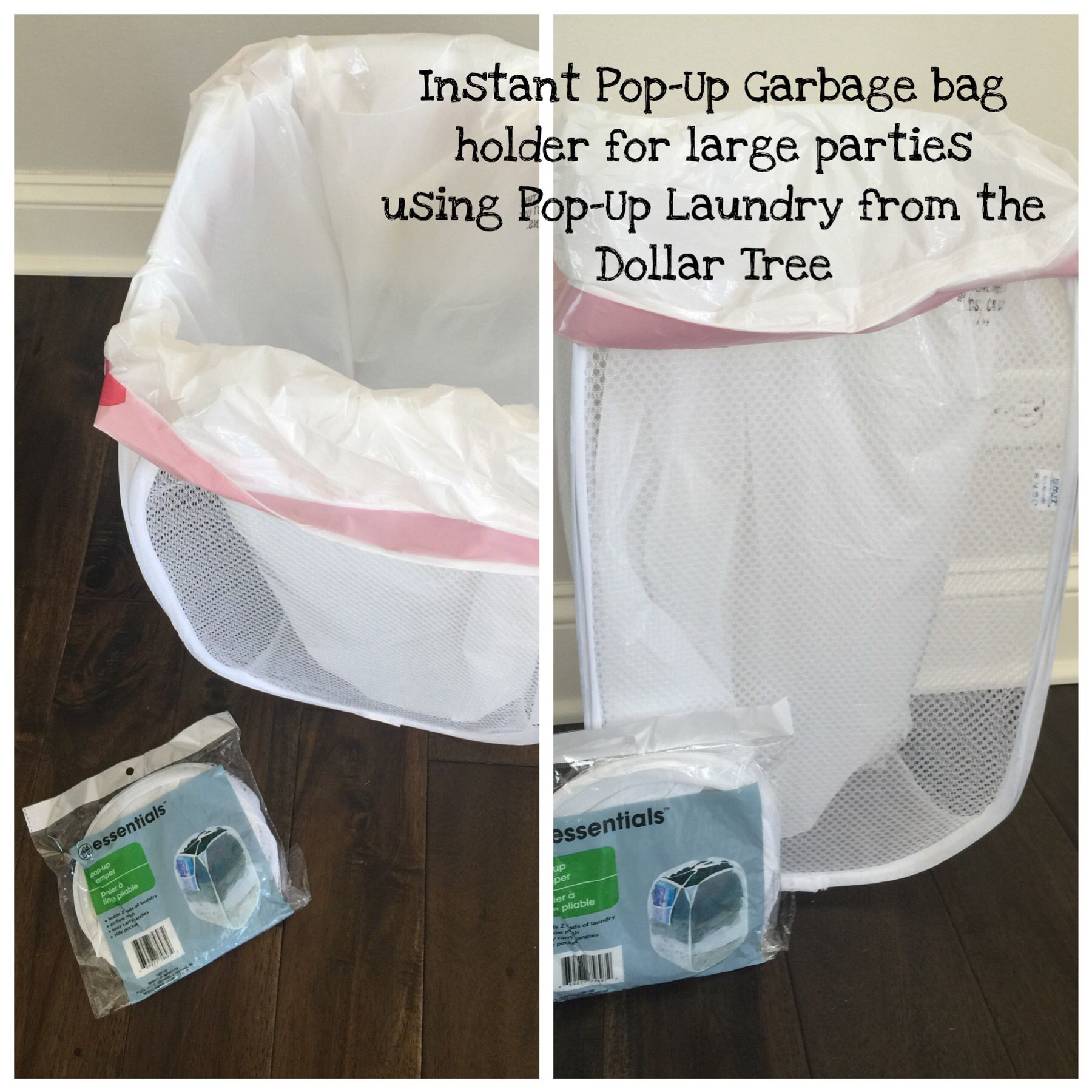 Having A Large Party And Need Cheap Garbage Bag Holders Use A Pop