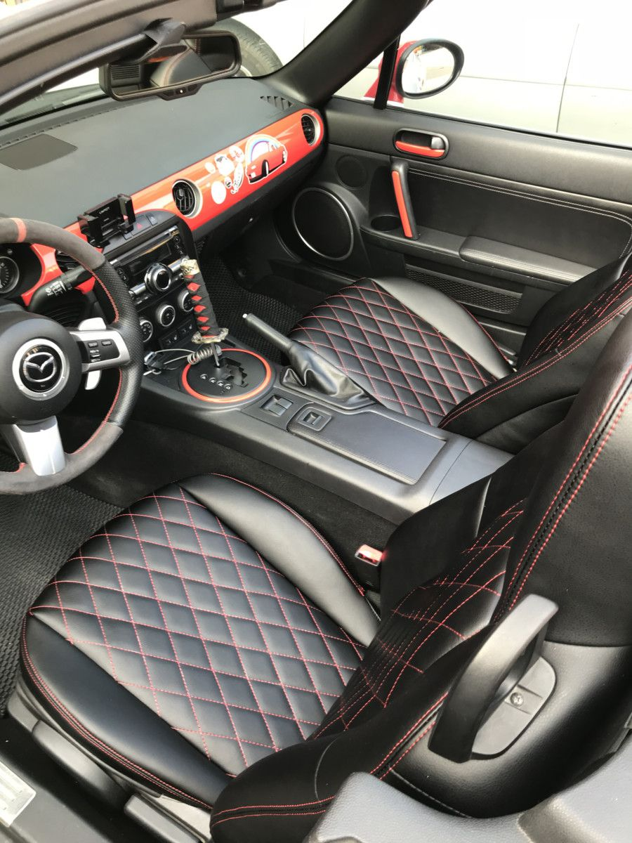 Carbonmiata Quilted Seat Covers Diamond Stitching For Nc Mazda Miata Mx 5 Topmiata Miata Mazda Miata Nc Miata