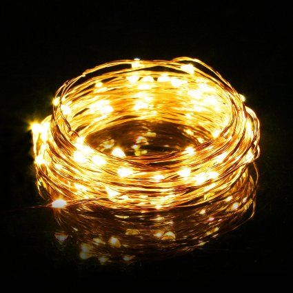 LightPlus LED String Lights (100 LED bulbs, 33ft) - Powerful 2700