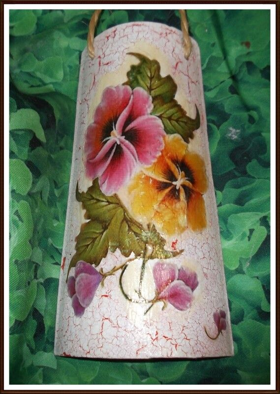 Teja decorada y con decoupage tejas de coradas pinterest - Pintar tejas de barro ...