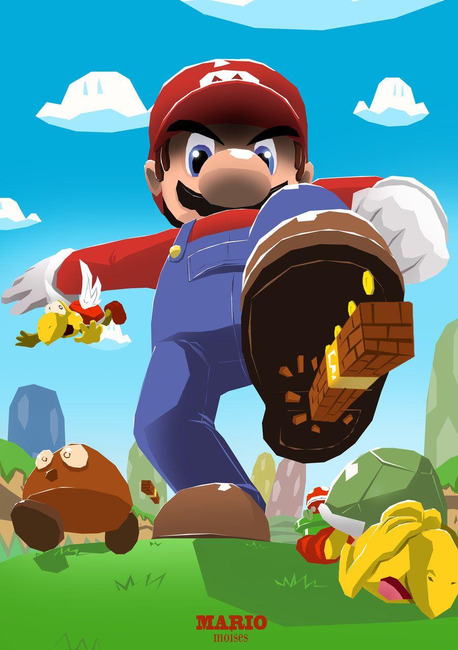 Giant Mario By Lorddeimons Mario Game On Pinterest Super