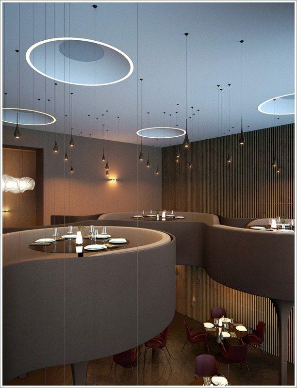Contemporary Restaurant Furniture | Contemporary Restaurant At Kiev,  Twister | HomeExteriorInterior.com
