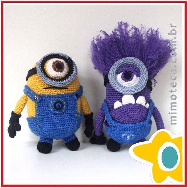 """""""Meu Mimo Favorito ganhou um companheiro Rsrs  #minion #meumalvadofavorivel #amigurumi #crochet #presente #crochetdoll #boneca…"""""""
