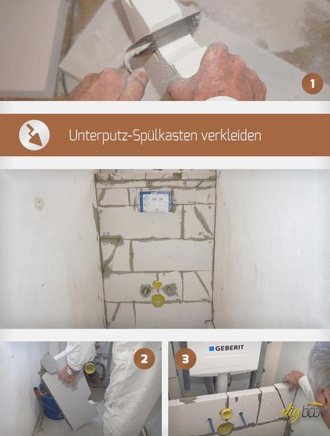 Unterputz-Spülkasten verkleiden Anregungen Spülkasten