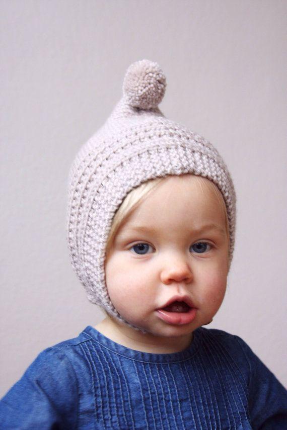 KNITTING PATTERN PDF File - Knit Pixie Bonnet Pattern - Baby Bonnet ...