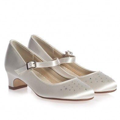 e2f2461ec Rainbow Katz Girls Ivory Satin Heeled Shoes at Childrensalon.com ...