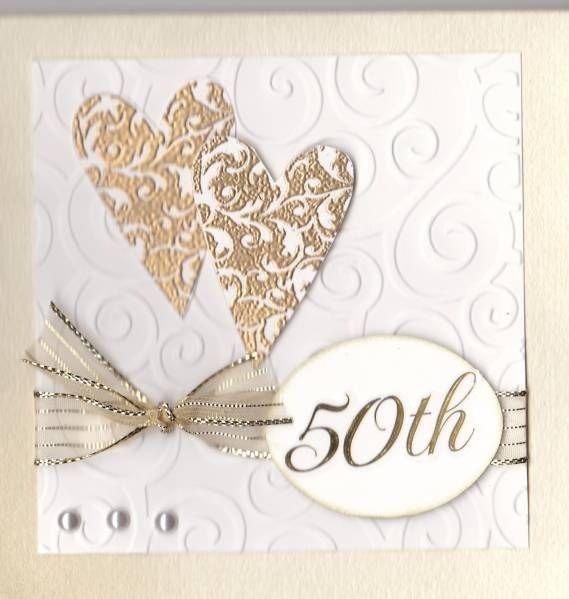 50th Anniversary Homemade Cards Rubber Stamp Art Paper Crafts Splitco Anniversary Cards Handmade 50th Anniversary Cards Golden Wedding Anniversary Card