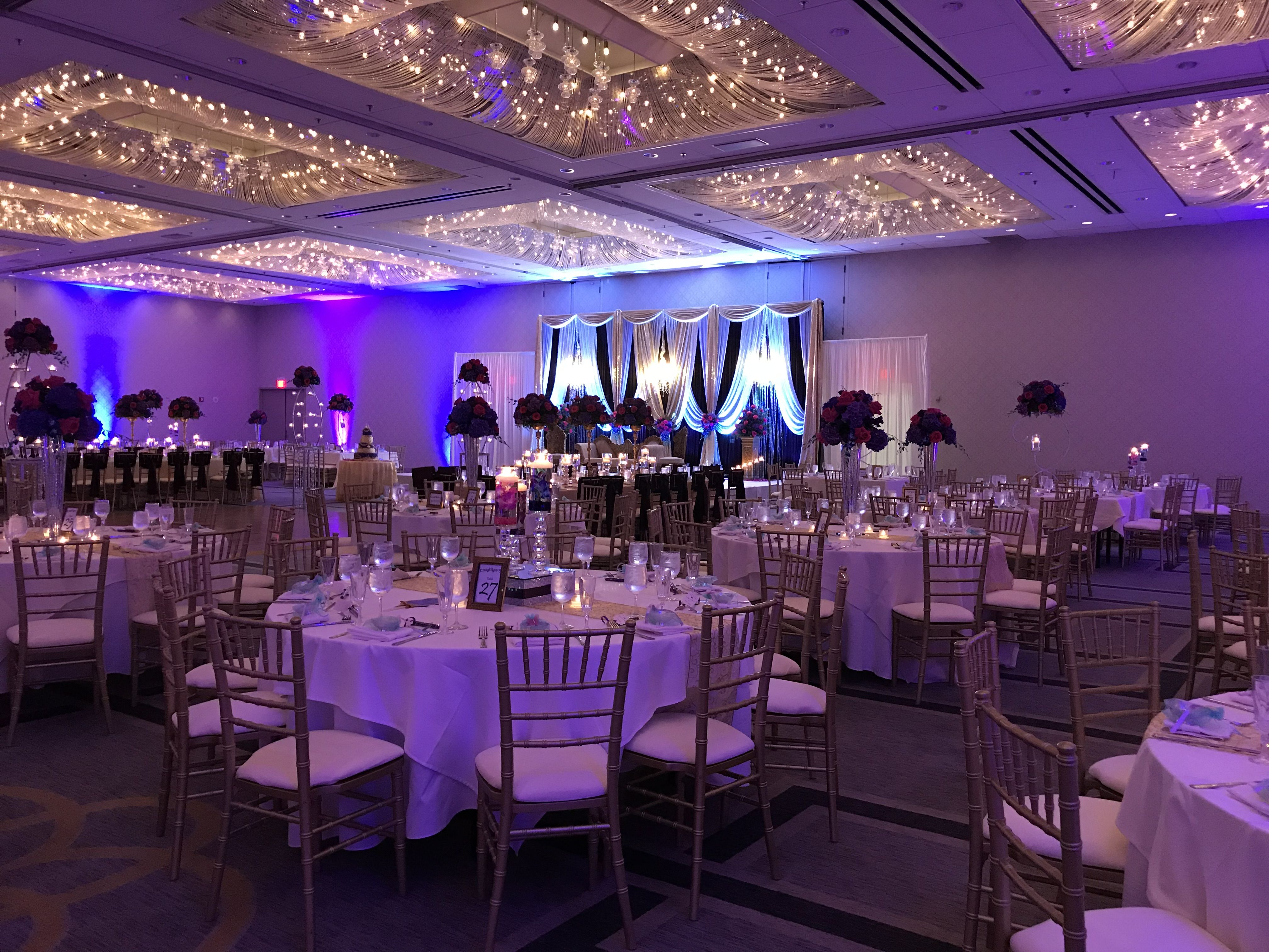 South Asian Wedding Reception At Doubletree Oak Brook Doubletreeoakbrook Southasianwedding Decor Company Professionalpartyplanners