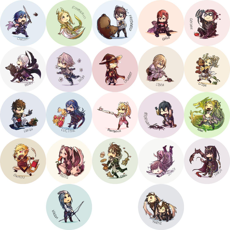 Fire Emblem Awakening Buttons Updated By Hasuyawn On Deviantart Fire Emblem Awakening Fire Emblem Fire Emblem Characters