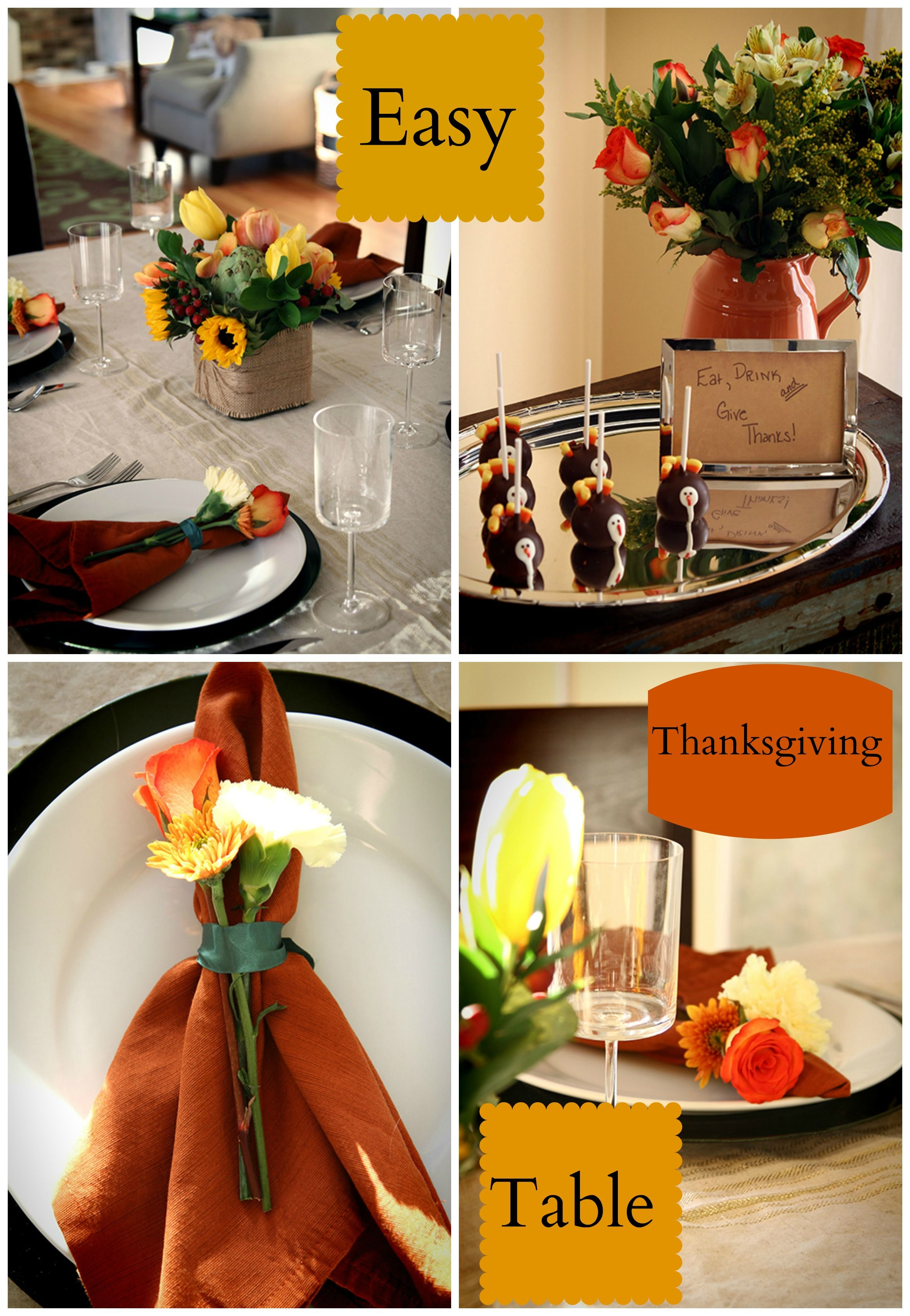 Easy Thanksgiving Table