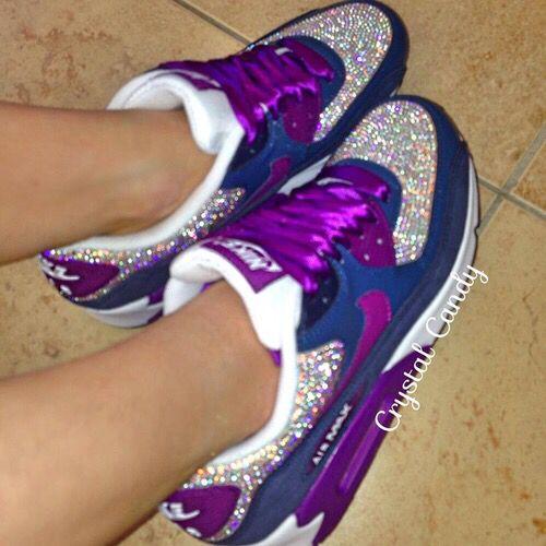 purple glitter nike
