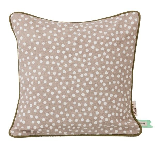 Kussen 30x30 Ferm Living Dots Kussen Grijs 30x30 | Cotton Throw Pillow