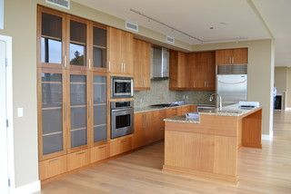 A nice open kitchen, but lacking interest.