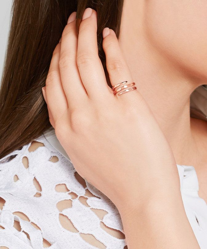 Sweet Love elegant delicacy and style Adjustable ring Gold and polished silver