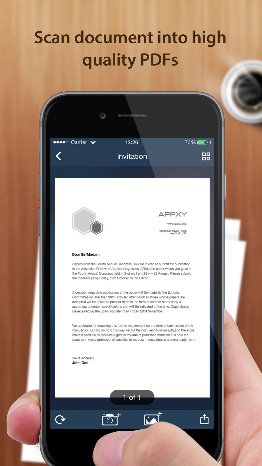 Tiny Scanner PDF scanner to scan document, receipt