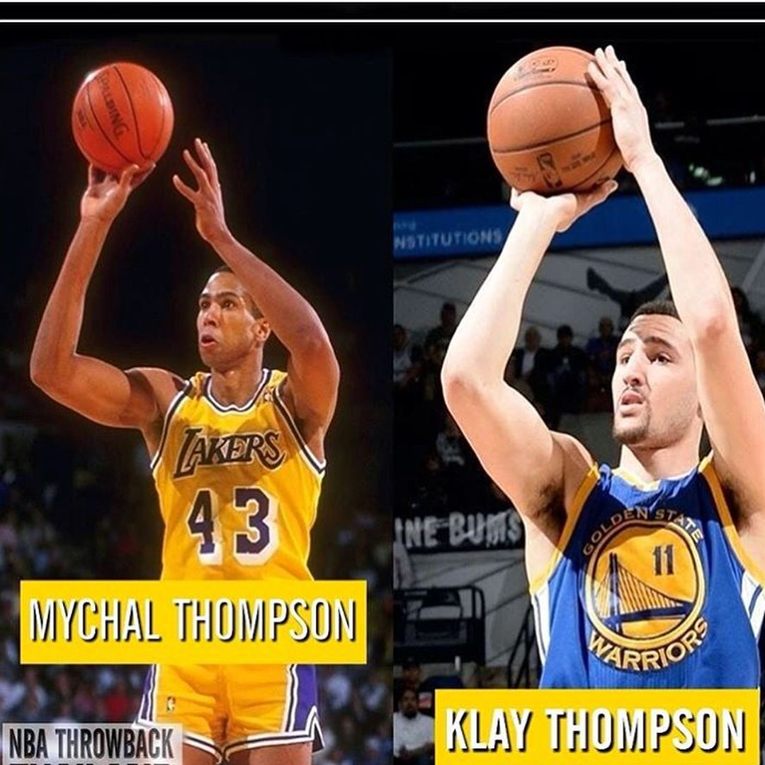 the latest de3f8 17d2a And Happy Father s Day to Mychal Thompson for giving us Klay🙃 - follow   klayupdated