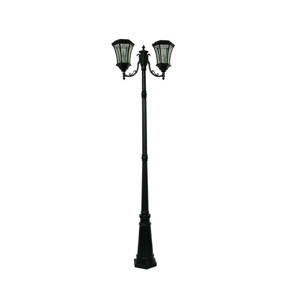 Gama Sonic Victorian 2 Head Solar Black Outdoor Lamp Post Gs 94d B Post Lights Solar Lamp Post Solar Lamp Post Light
