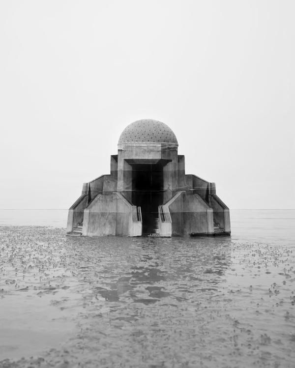 The futuristic observatories of the French photographer Noemie Goudal, at the Armory Show