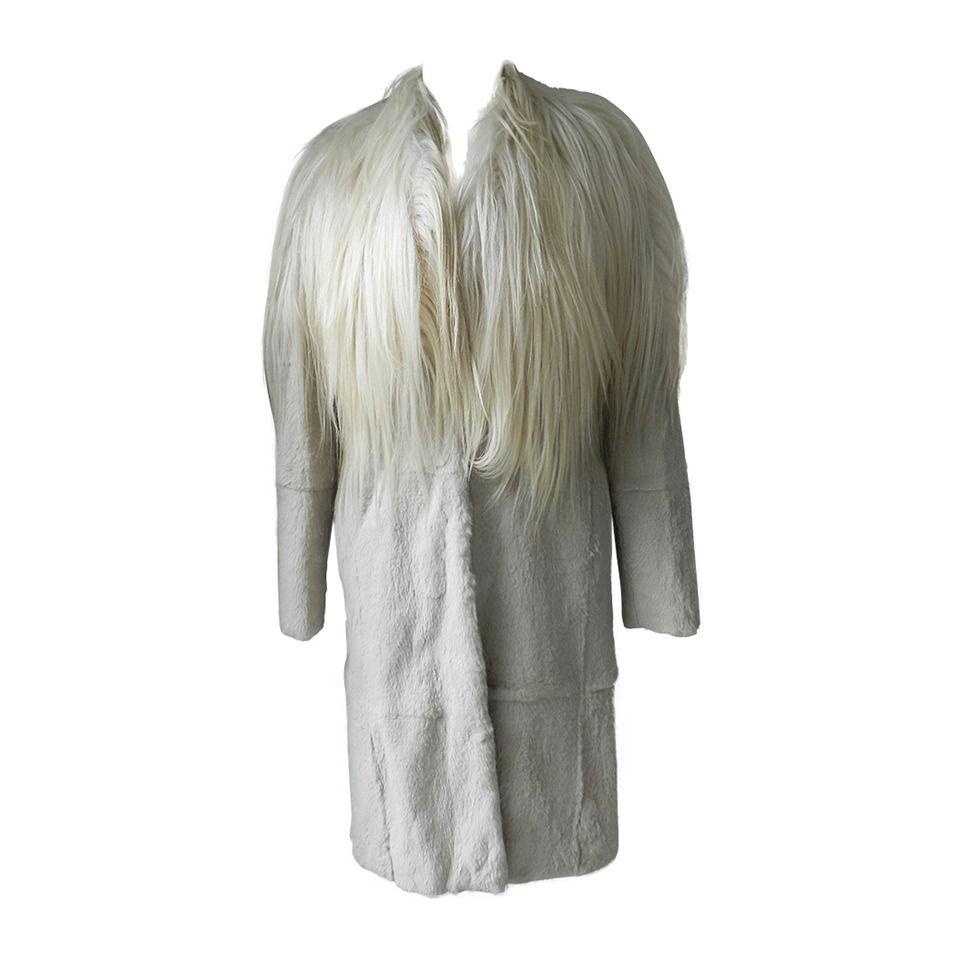 Martin Margiela 2011 Goat Hair and Rabbit Fur Coat  2c68f04d1e71c