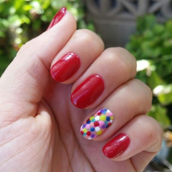 Nails gelish red gumball machine | My Favorite Holiday | Pinterest ...