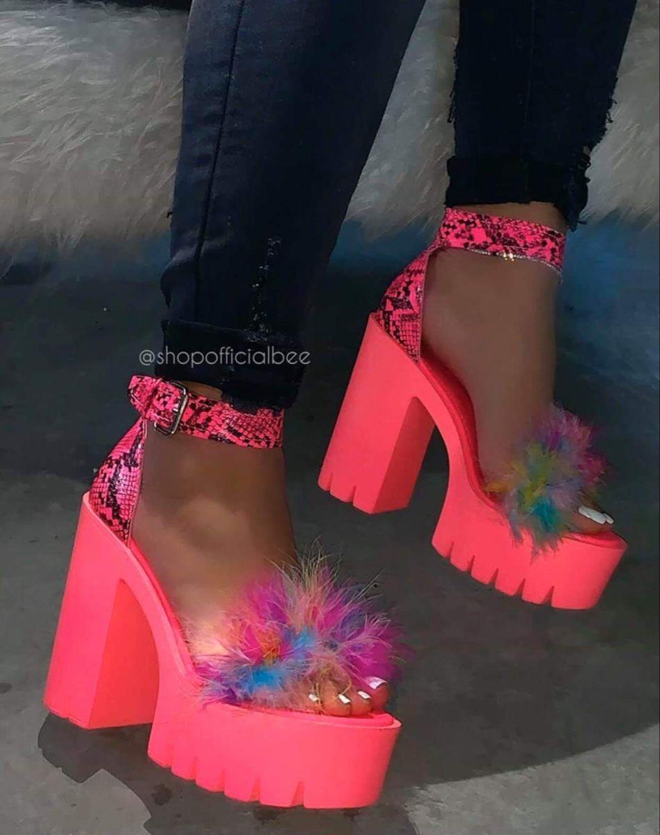 pink platform heels women's shoes