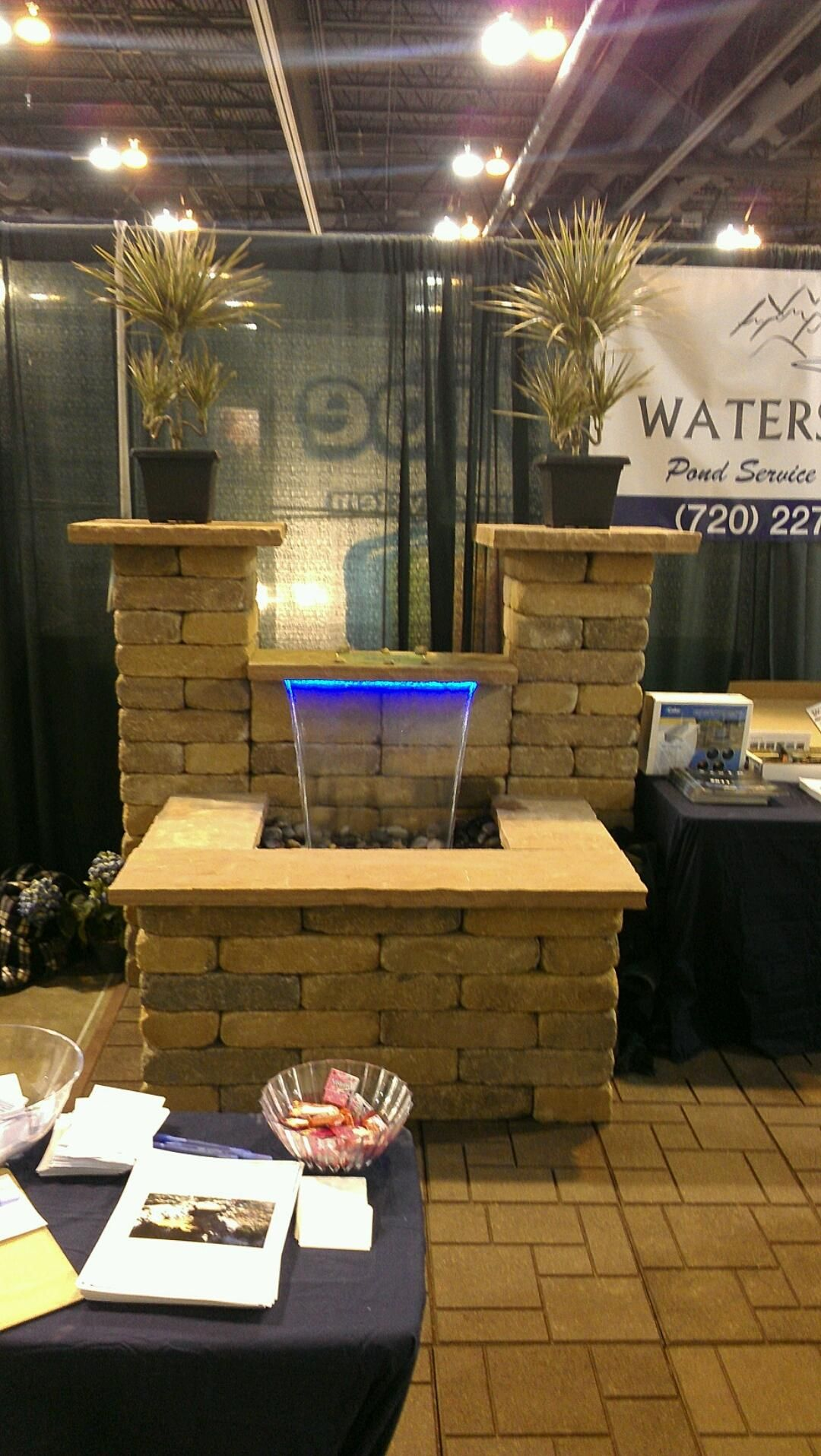 Colorfalls from the Waters Edge booth at the Denver Home and Garden ...