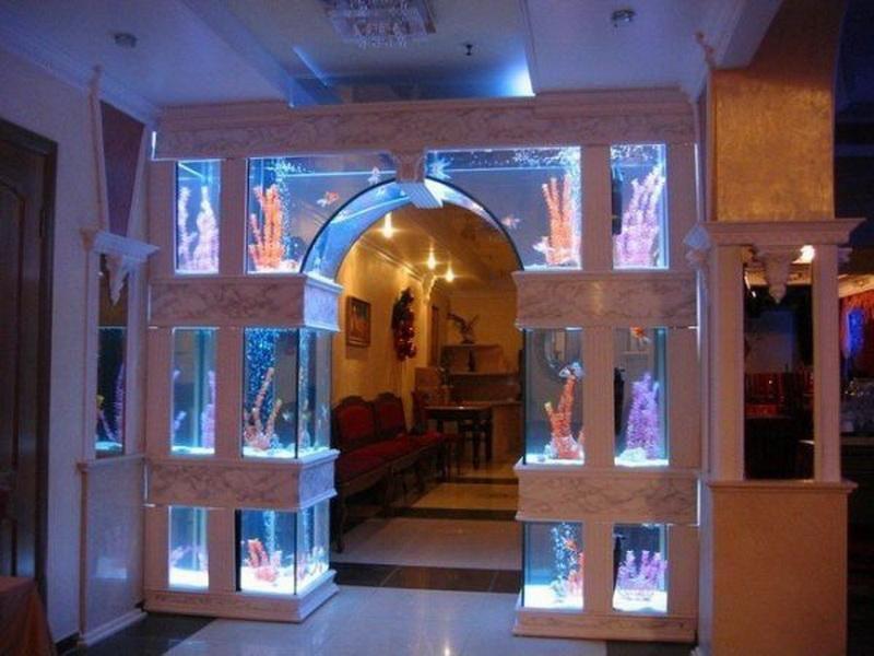 Home aquariums by msdebbie5678 on pinterest aquarium for Aquarium house decoration