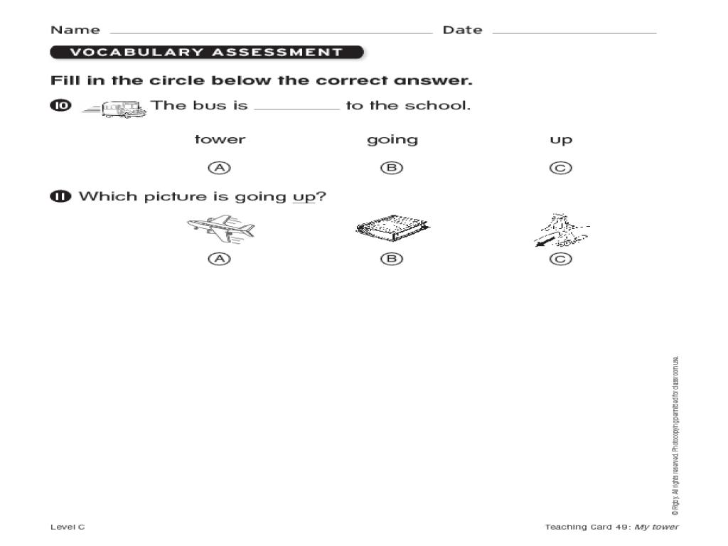 Phonics Assessment Worksheet