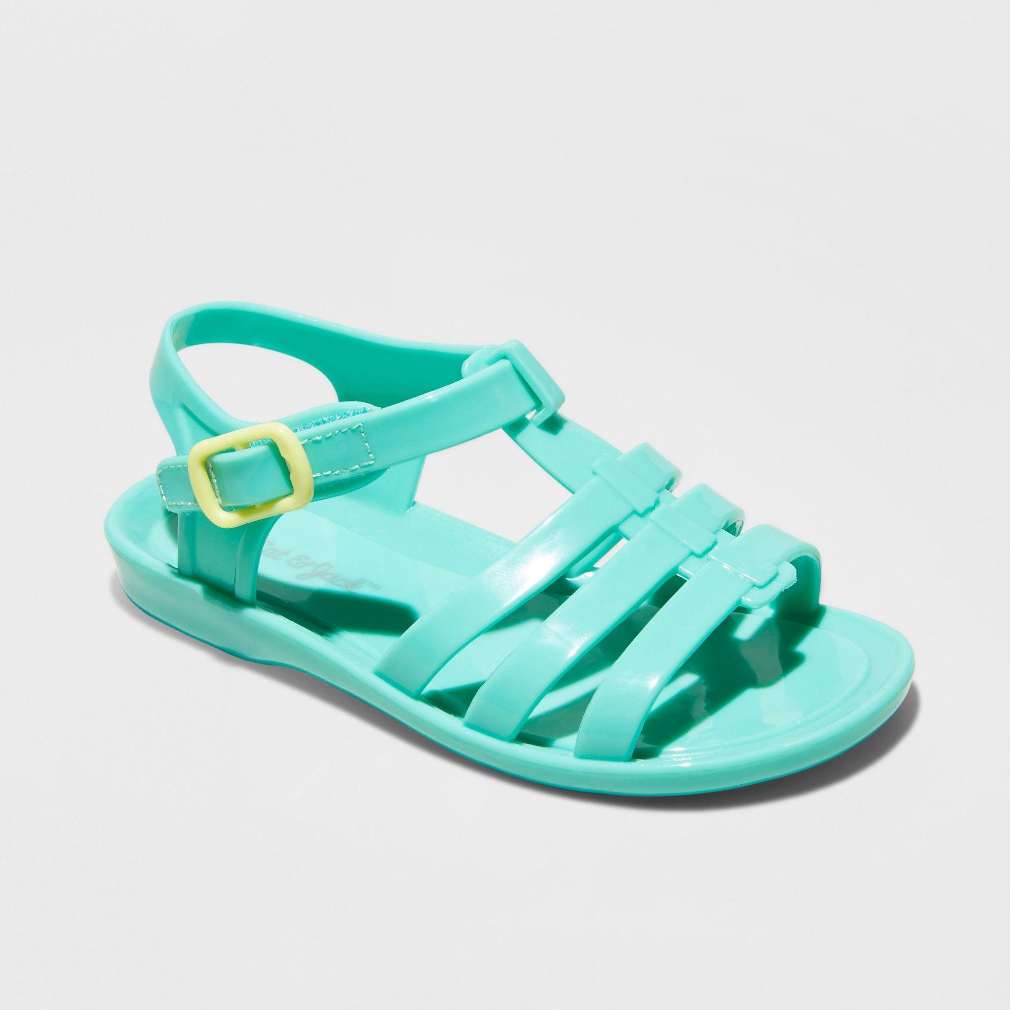 acb75288bf9e Toddler Girls' Annabella Fisherman Slide Sandals - Cat & Jack Mint XL, Blue