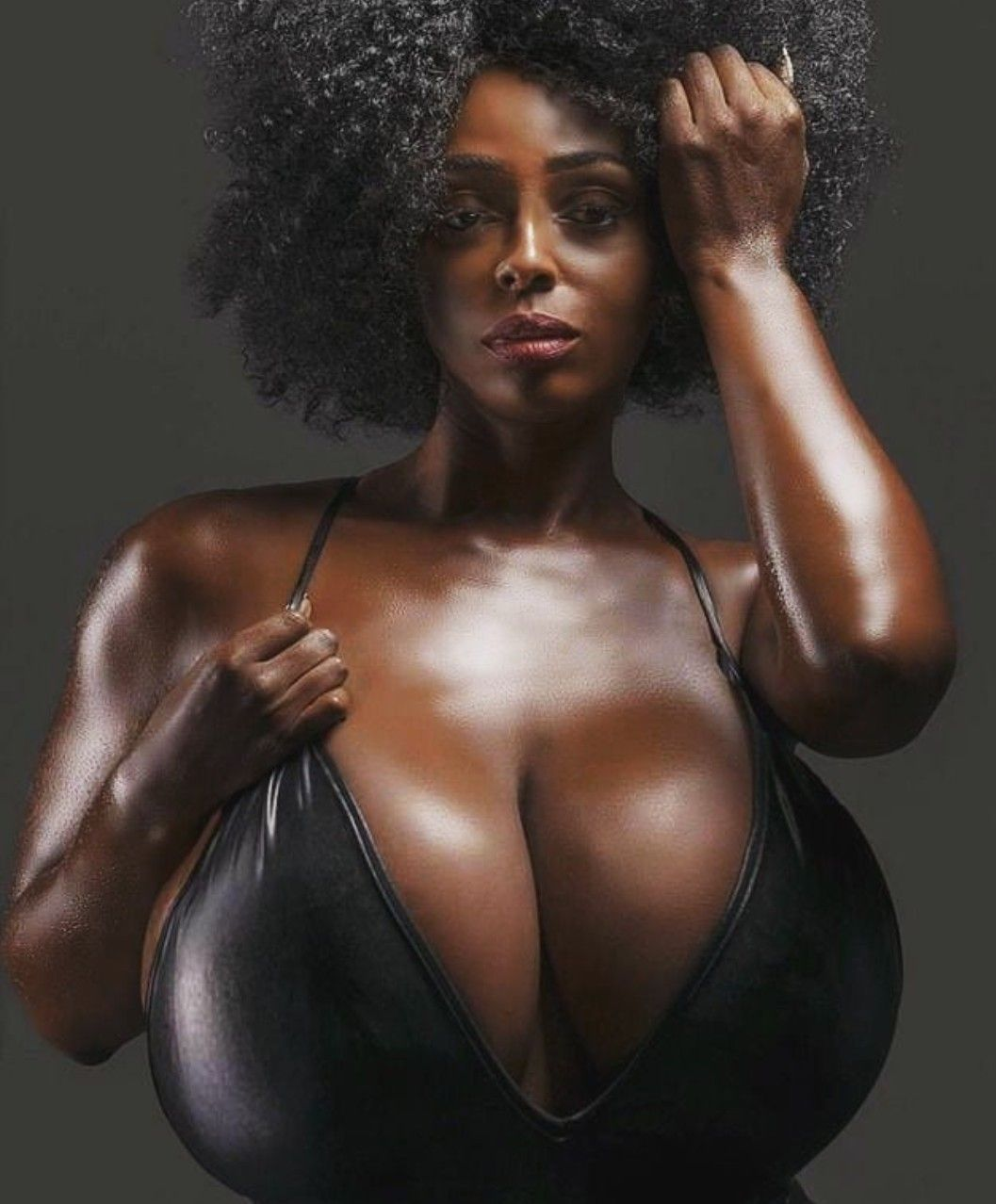 Beautiful black woman with big boobs
