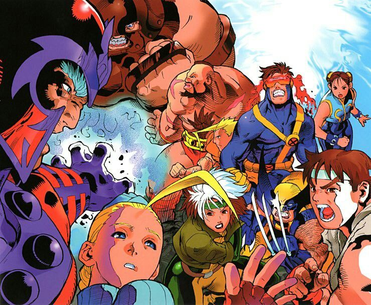 X Men Vs Street Fighter Capcom Art Street Fighter Art Capcom Vs
