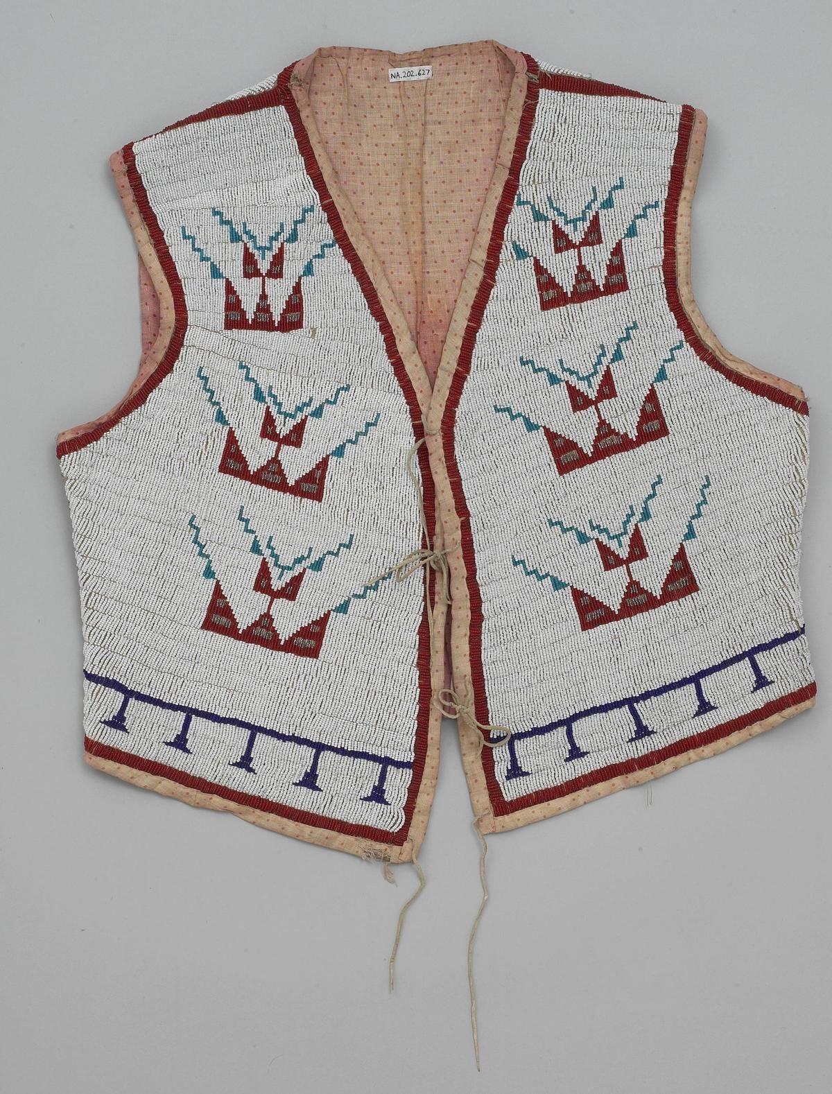 Жилетка Сиу. ЮД, 1905 год. Ююю. Native american beadwork