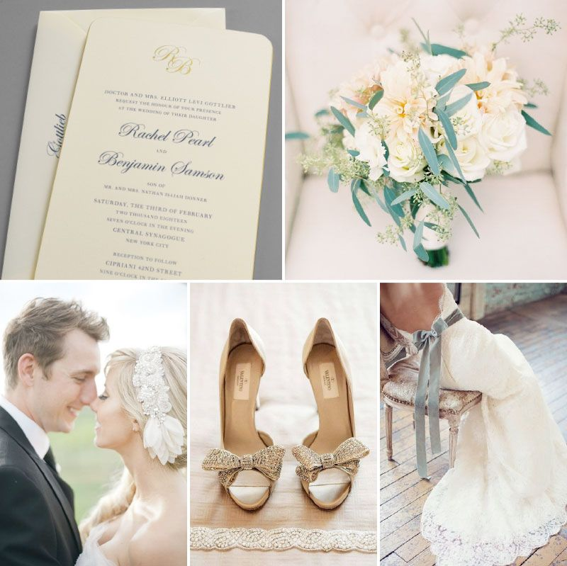 'True Elegance' wedding invitation gets even more luxe invitation with in-store exclusive alterations inspired by classic creamy white and gold. Shop this design: http://www.kleinfeldpaper.com/shop/Wedding-Invitations-True-Elegance-P650_1_100_A32_S01_P01