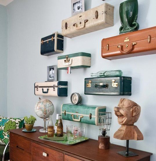 Come riutilizzare in maniera originale le vecchie valigie in soffitta