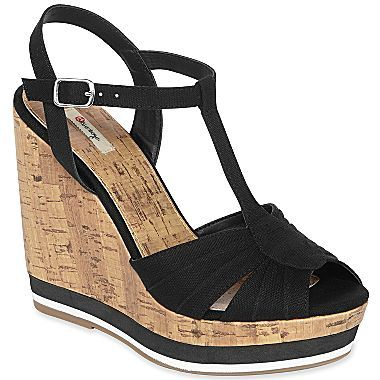 fb2948de8bb2b Olsenboye® Jupiter T-Strap Wedge Sandals - jcpenney
