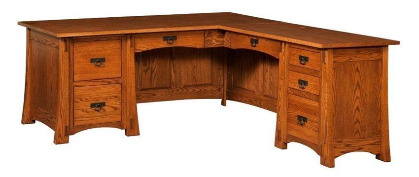 Amish Modesto Mission L Desk
