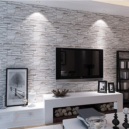 Chinese Retro Imitation Stone Brick Pattern Wallpaper Pattern Fashion Personality Brick Wallpaper Living Room Wallpaper Living Room Living Room Wall Wallpaper