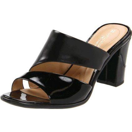 Naturalizer Womens Lindy Black Heel Sandals Shoes 7.5
