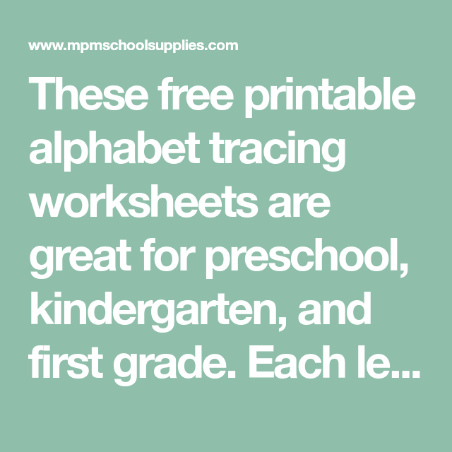FREE Uppercase and Lowercase Letter Tracing Worksheets! | Alphabet ...