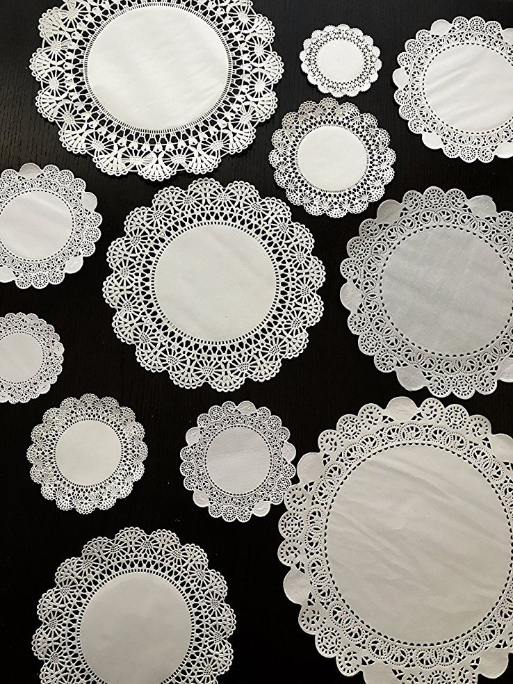 8 6 20 of each 10 and 12 5 120 White Round Paper Lace Doilies Assorted 4