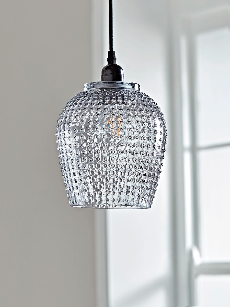 Best Large Dots Textured Pendant Grey Glass Pendant Light 400 x 300