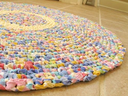 Colorful And Fun Rag Rug New One Of