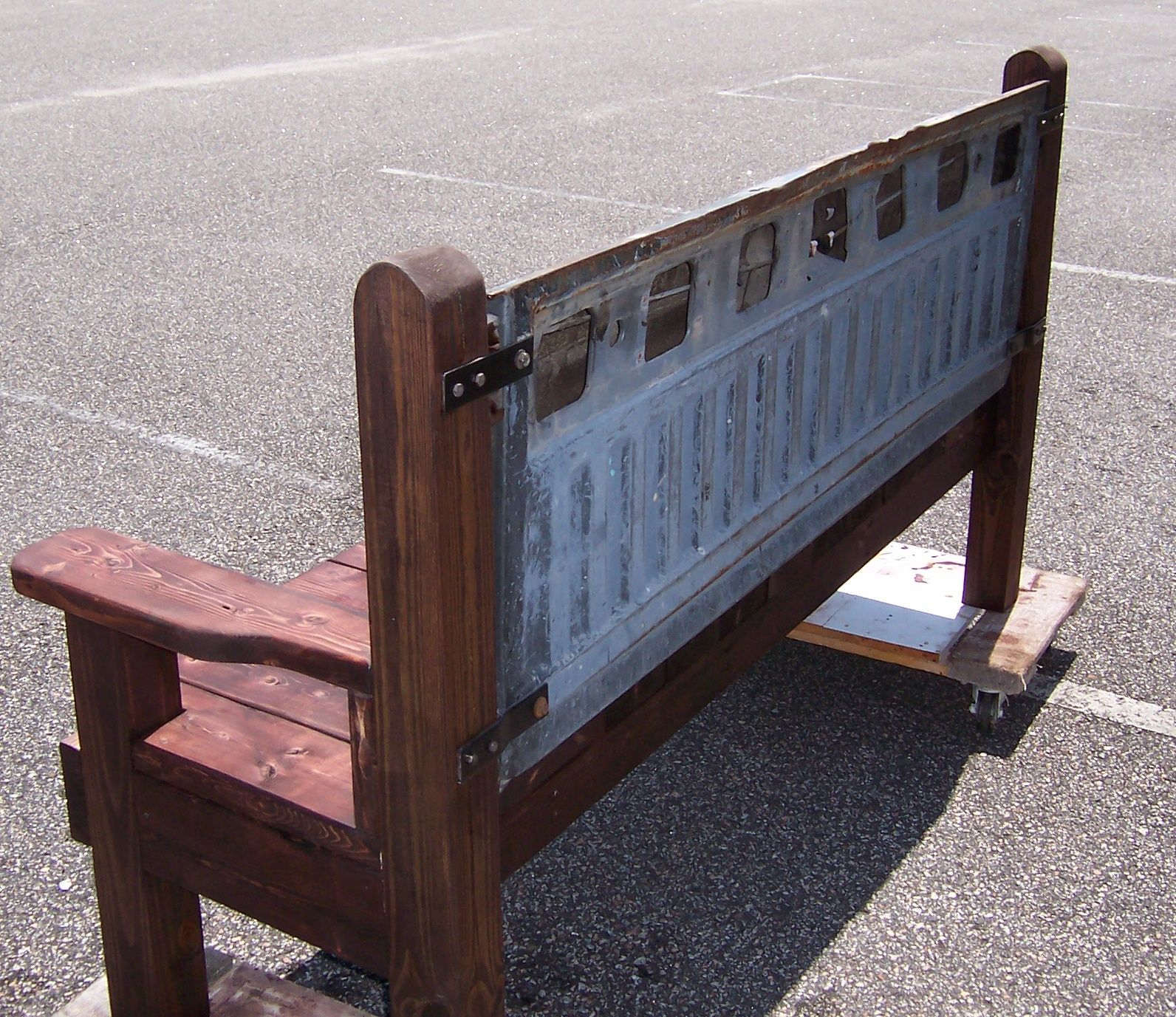 Beau Triple A Resale Hand Made Wooden Bench With Ford Tailgate