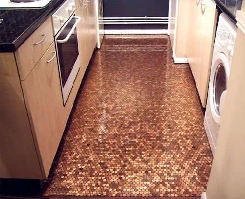 A Penny For Your Thoughts Flooringtile Flooringbathroom Flooringtiled Floorsbathroom Tilingcopper